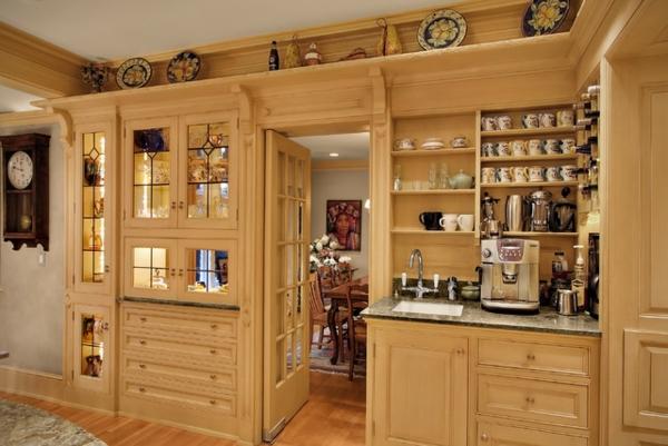 das eigene cafe im haus rustikale einrichtung in beige