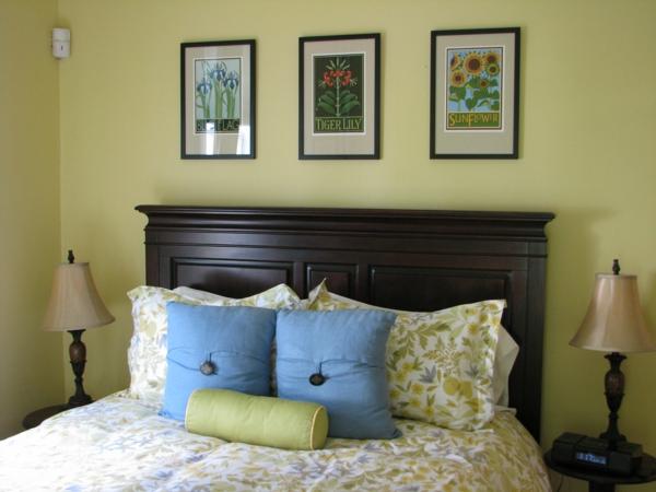 das private gästezimmer neu gestalten bettwäsche blau grün