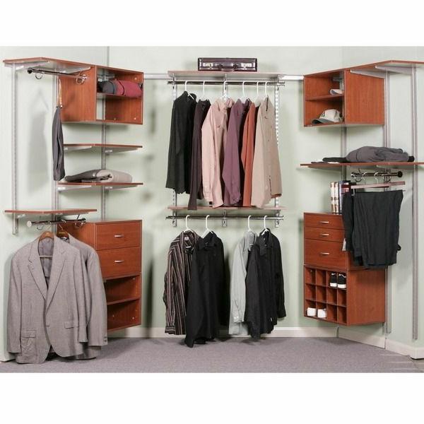 den kleiderschrank organisieren aus kirschbaumholz und metall