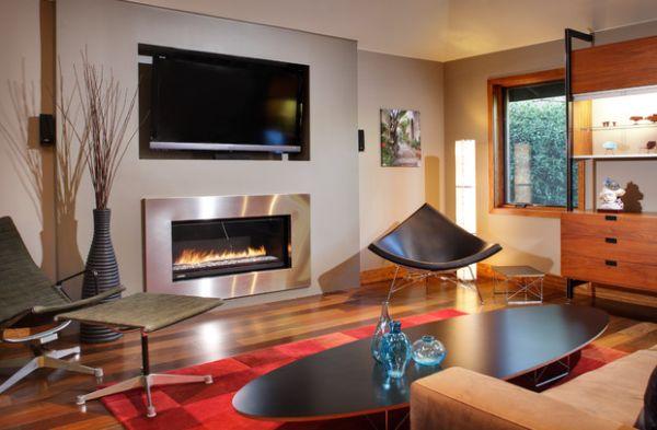 designer coconut stuhl eingebauter led fernseher roter teppich