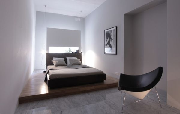 designer coconut stuhl holzfußboden schmales doppelbett