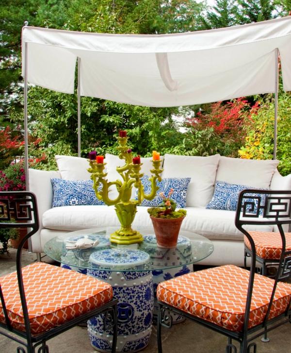 die perfekten outdoor möbel extravagant mit filigranen muster und anregenden farben