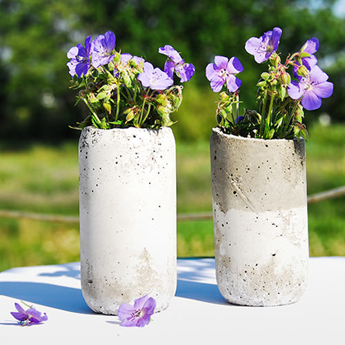 diy blumentöpfe aus beton schlichte vasen