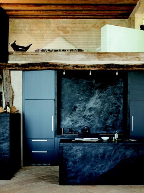 dunkel küche kühlschrank spüle unterschrank arbeitsplatte grunge stil