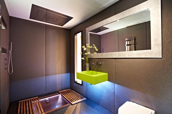 ein Yo!Home Apartment waschbecken grün waschtisch