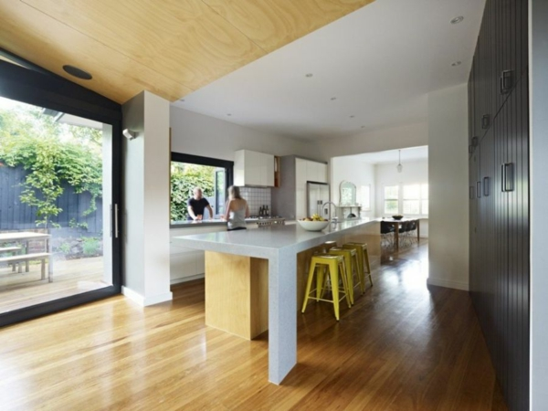 Ein moderner anbau innovative geb udeerweiterung in melbourne - Modern keukenplan ...
