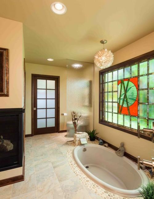 eingebaut-badewanne-oval-asian-stil-einrichtung-badezimmer