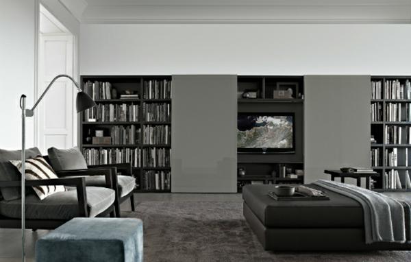 Vliestapeten Richtig Kleben : Elegante Wohnwand Ideen ? gestalten Sie Ihre Wohnzimmer mit Stil