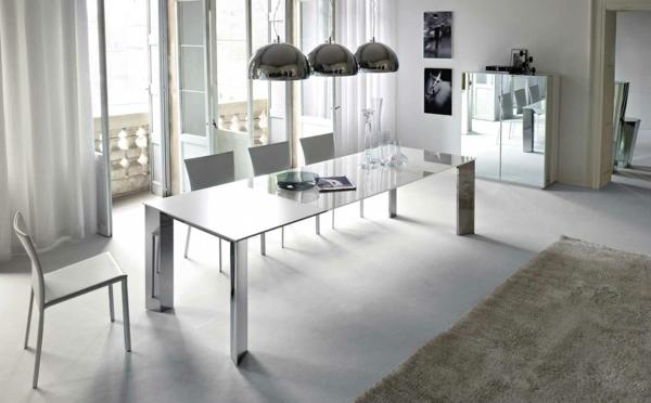 esszimmer möbel tisch stühle mobiliar glanzvoll pendelleuchten
