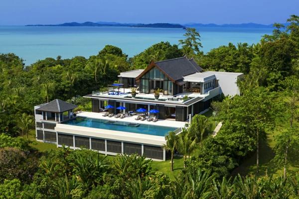 Exotische luxus villa in thailand mit herrlichem blick for Exotische hotels