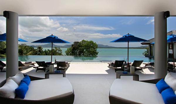 exotische luxus villa veranda mit pool