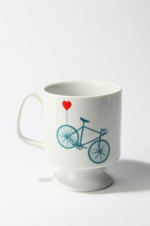 fahrräder als sommerdeko kaffee tasse