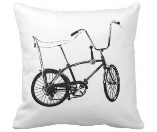 fahrräder als sommerdeko schwarzweiß auf kissen