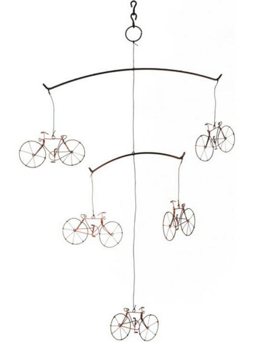 fahrräder als sommerdeko windspiel