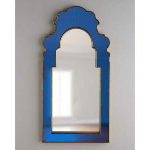 fantastische Foyer Designs mit Tapeten blau wandspiegel rahmen