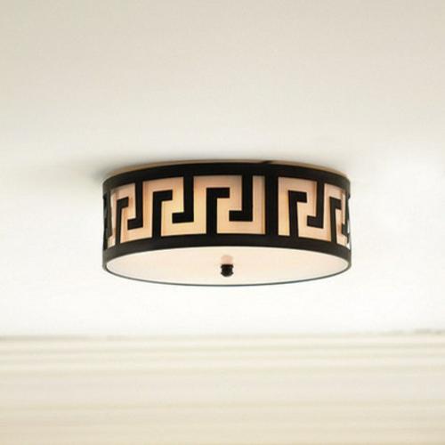 fantastische Foyer Designs mit Tapeten deckenleuchten rund muster