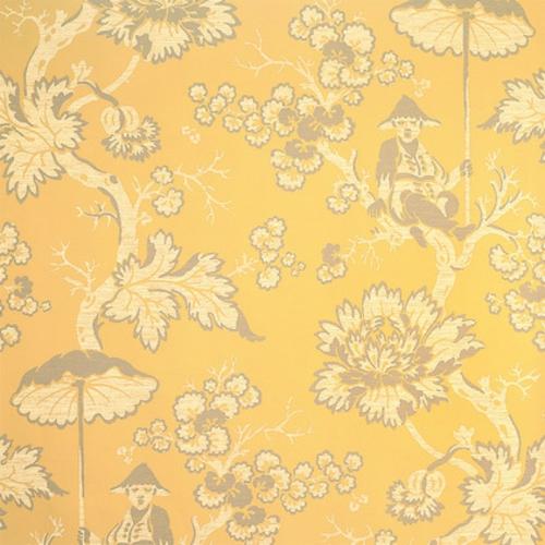 fantastische Foyer Designs mit Tapeten gelb blumenmuster elegant