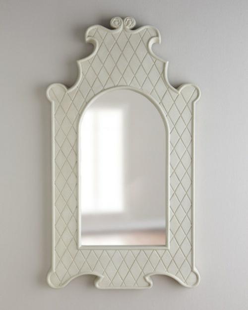 fantastische Foyer Designs mit Tapeten klassisch spiegelrahmen wand
