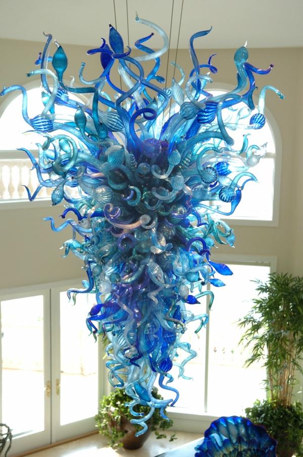 fantastische dekoration aus glas - chihuly glasskulptur installation, Garten und bauen