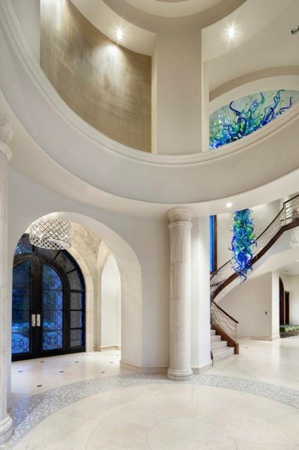 fantastische dekoration aus glas wunderschöne girlanden weißer marmor