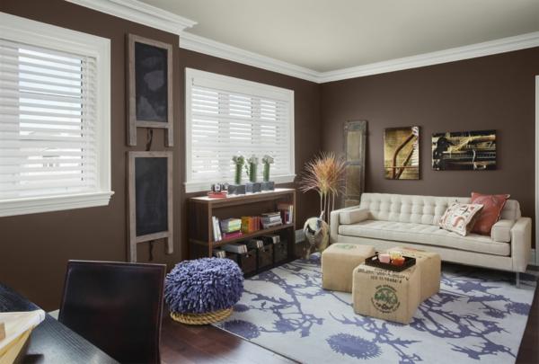 Wohnzimmer Farben Grau Rot: Wand streichen ideen kreative ...