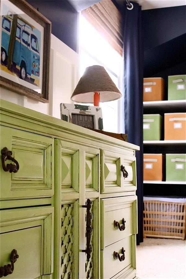 farbenfrohe Kommoden zum Sebermachen hellgrün rustikal klassisch