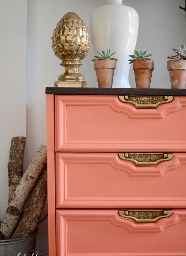 farbenfrohe Kommoden zum Sebermachen rosa gesättigt elemente dekoriert