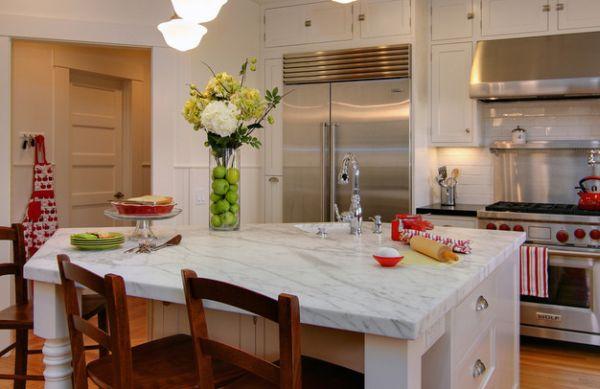freuden der natur als dekoration grüne äpfel marmor tischoberfläche