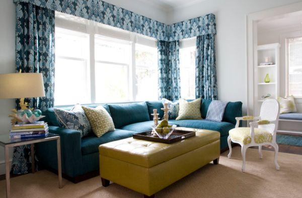 freuden der natur als dekoration komfortable couch in türkis ottomane in lime