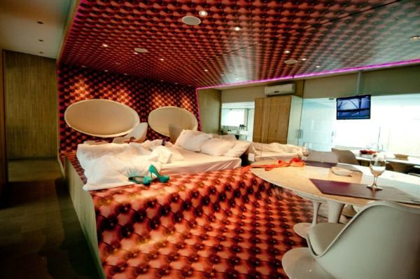 futuristische schlafzimmer designs extravagant in polster