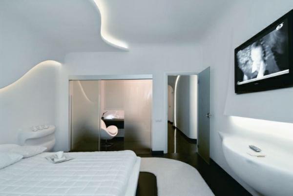 futuristische schlafzimmer designs 26 originelle einrichtungsideen. Black Bedroom Furniture Sets. Home Design Ideas