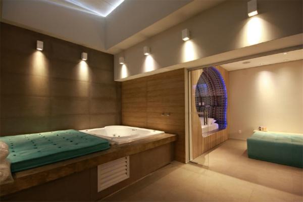 futuristische schlafzimmer designs pastellgrün schlichte wandleuchten