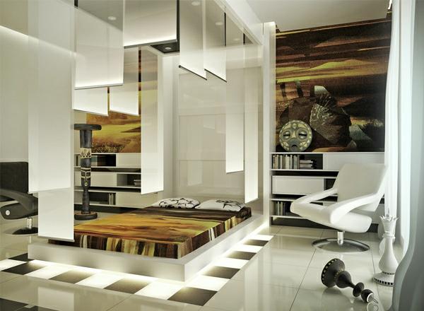 futuristische schlafzimmer designs afrikanische Kunstwerke und ...