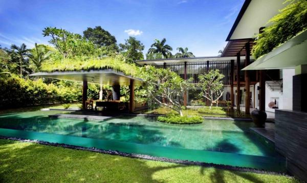 garten im umweltfreundlichen haus gestalten privat design natur