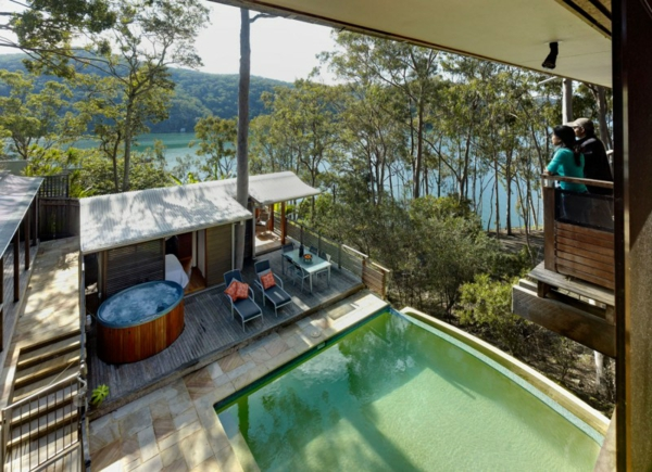 gemütliches ferienhaus mit whirlpool und liegen