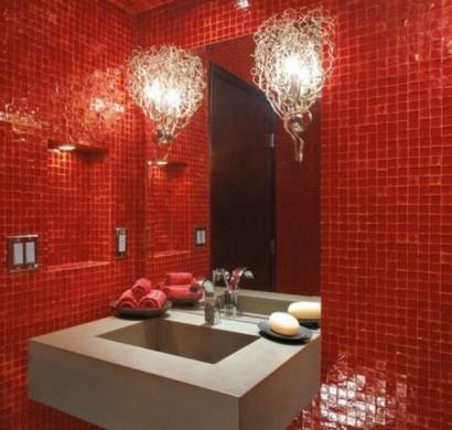 Gestaltung mit Farbe: Wann sollte man Rot im Badezimmer ...