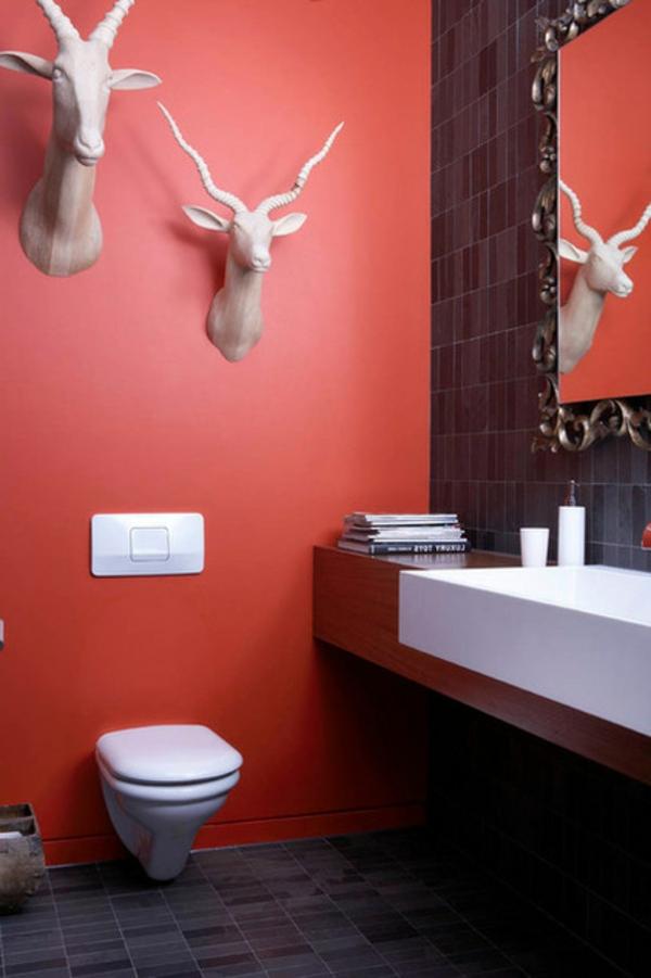 Gestaltung Mit Farbe Wann Sollte Man Rot Im Badezimmer Benutzen