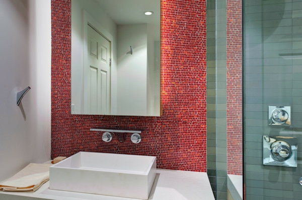 Die Beschichtung Rot Grau Badezimmer ? Moonjet.info Badezimmer Grau Mit Mosaik Blau