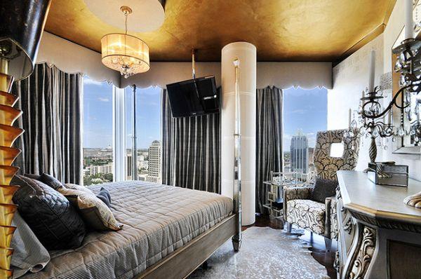 goldene akzente moderne innenausstattungen mit goldenem glanz. Black Bedroom Furniture Sets. Home Design Ideas