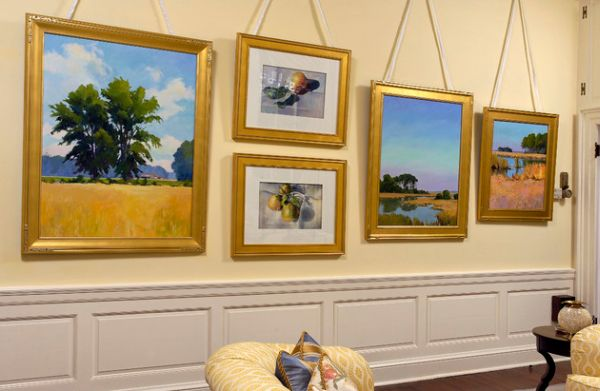 goldene akzente eine kleine private kunstgalerie