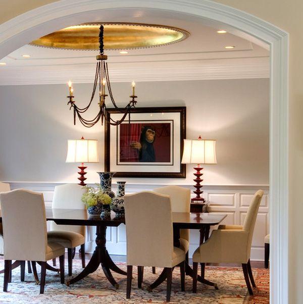 goldene akzente elegante stühle in creme große dekovasen im chinesischen stil