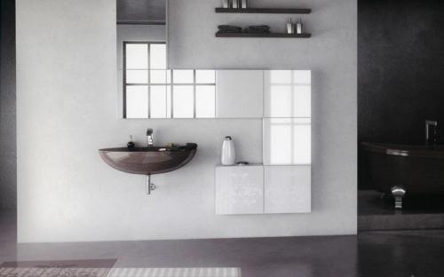 gut designtes Badezimmer waschbecken glanzvoll wand modular schrank