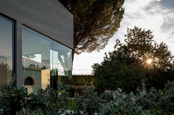 historisch architektur modern design hotel sizilien garten bäume