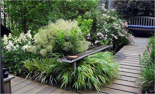 holz bodenbelag gras tisch pflanzen