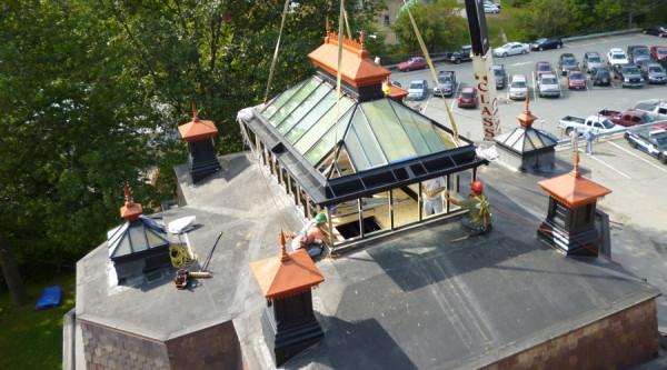 intelligente fenster designs ein dachpavillon