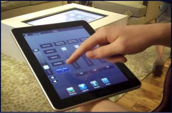 intelligente fenster mit dem tablet pc