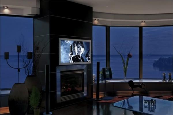 intelligente fenster moderne panoramafenster verdunkelt