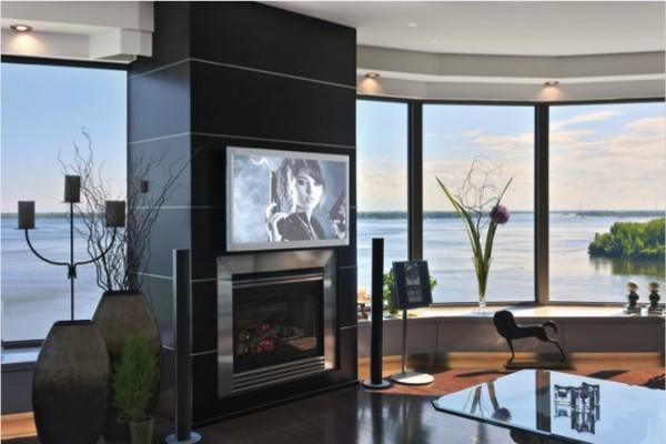 Moderne Wohnzimmer Fernseher Vor Fenster Ihre Wohnideen