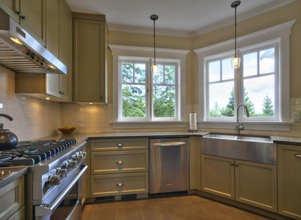schickes küchen design pastellfarben mattglanz