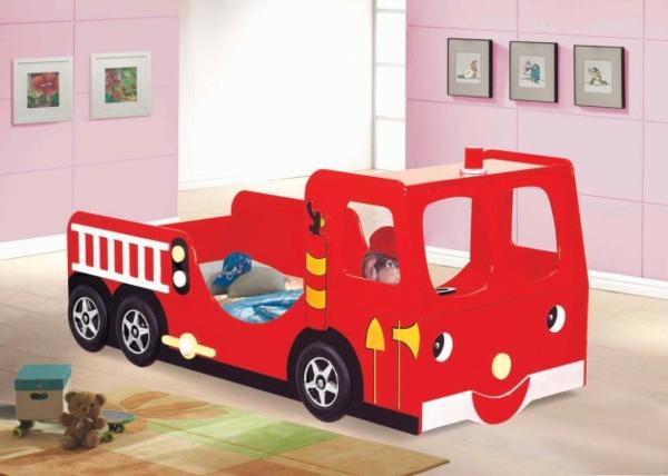 kinderbetten designs für kleine feuerwehrleute